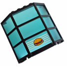 LEGO Window Bay 3 x 8 x 6 Assembly with Trans Light Blue Glass and Hamburger Decoration (30185)