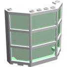 LEGO Window Bay 3 x 8 x 6 with Transparent Green Glass (30185)