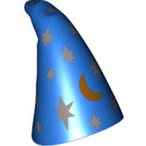 LEGO Wizard Cone Hat with Silver Stars and Golden Moon Pattern (18059 / 27493)