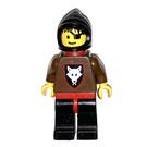 LEGO Wolf Bandit Black Hood Red Cape Minifigure