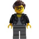 LEGO Woman in Black Leather Jacket Minifigure