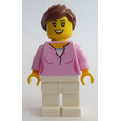 LEGO Woman in Bright Pink Sweater Minifigure