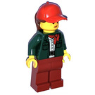 LEGO Woman in Dark Green Jacket Minifigure