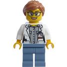 LEGO Woman in Open Lab Coat Minifigure