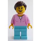 LEGO Woman in Pink Shirt Minifigure