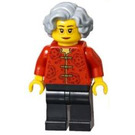 LEGO Woman in Red Patterned Shirt Minifigure