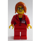 LEGO Woman in Red Suit Minifigure