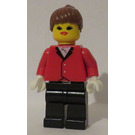 LEGO Woman in Riding Jacket and Ponytail Minifigure