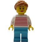 LEGO Woman in White Sweater with Red Stripes Minifigure