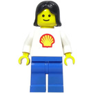 LEGO Woman Shell Torso, Blue Legs, Black Hair Minifigure