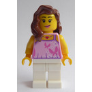 LEGO Woman with Bright Pink Top Minifigure
