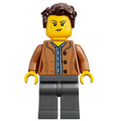 LEGO Woman with Dark Flesh Jacket Minifigure