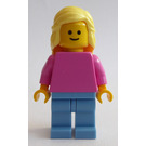 LEGO Woman with Dark Pink Shirt Minifigure