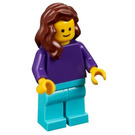 LEGO Woman with Dark Purple Shirt Minifigure