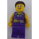 LEGO Woman with Dark Purple Shirt with Flowers Minifigure