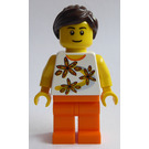 LEGO Woman with Flower Shirt Minifigure