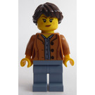 LEGO Woman with Medium Dark Flesh Jacket Minifigure