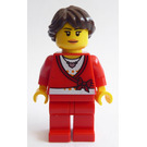 LEGO Woman with Red Sweater Minifigure