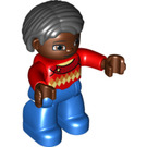 LEGO Woman with Red Top Duplo Figure