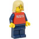 LEGO Woman with Silver Logo Shirt Minifigure