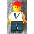 LEGO Worker with Vestas Logo (Sticker) Minifigure Cheak Lines