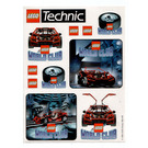 LEGO World Club sticker sheet 'Technic'