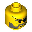 LEGO Yellow Ace Speedman Diver Head (Safety Stud) (88932 / 95506)