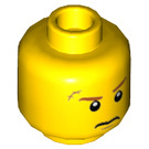 LEGO Yellow Agent Max Burns with Helmet and Armor Plain Head (Recessed Solid Stud) (20352)