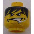 LEGO Yellow Alpha Team Head (Safety Stud)
