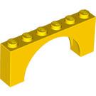 LEGO Yellow Arch 1 x 6 x 2 Medium Thickness Top (15254)