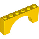 LEGO Yellow Arch 1 x 6 x 2 Thick Top and Reinforced Underside (3307)