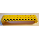 LEGO Yellow Arch 2 x 14 x 2.333 with Black/Yellow Warning stripes right side Sticker