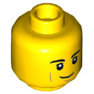 LEGO Yellow Astronaut Plain Head (Recessed Solid Stud) (65642)