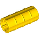 LEGO Yellow Axle Connector (Ridged with 'x' Hole) (6538)
