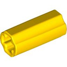 LEGO Yellow Axle Connector (Smooth with 'x' Hole) (59443)