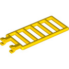 LEGO Yellow Bar 7 x 3 with Double Clips (6020)