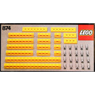 LEGO Yellow Beams with Connector Pegs Set 874