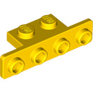 LEGO Yellow Bracket 1 x 2 - 1 x 4 with Rounded Corners (2436 / 10201)