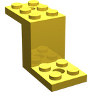 LEGO Yellow Bracket 2 x 5 x 2.33 without Inside Stud Holder (6087)