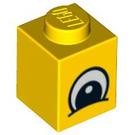 LEGO Yellow Brick 1 x 1 with Eye (88392)