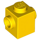 LEGO Yellow Brick 1 x 1 with Studs on Two Opposite Sides (47905)