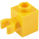 LEGO Yellow Brick 1 x 1 with Vertical Clip (Open 'O' Clip, Hollow Stud) (60475 / 65460)