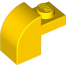 LEGO Yellow Brick 1 x 2 x 1.33 with Curved Top (6091 / 32807)