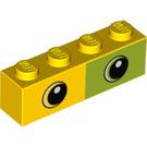 LEGO Yellow Brick 1 x 4 with Decoration (47819)