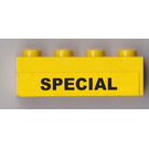 LEGO Yellow Brick 1 x 4 with Sticker from Set 7900