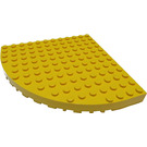 LEGO Yellow Brick 12 x 12 with Outside Bow (6162)