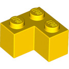 LEGO Yellow Brick 2 x 2 Corner (2357)
