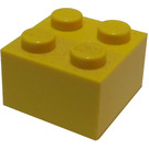 LEGO Yellow Brick 2 x 2 (Earlier, without Cross Supports)
