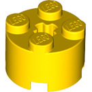 LEGO Yellow Brick 2 x 2 Round (3941 / 6143)
