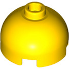 LEGO Yellow Brick 2 x 2 Round with Dome Top (Hollow Stud with Bottom Axle Holder x Shape + Orientation) (553)